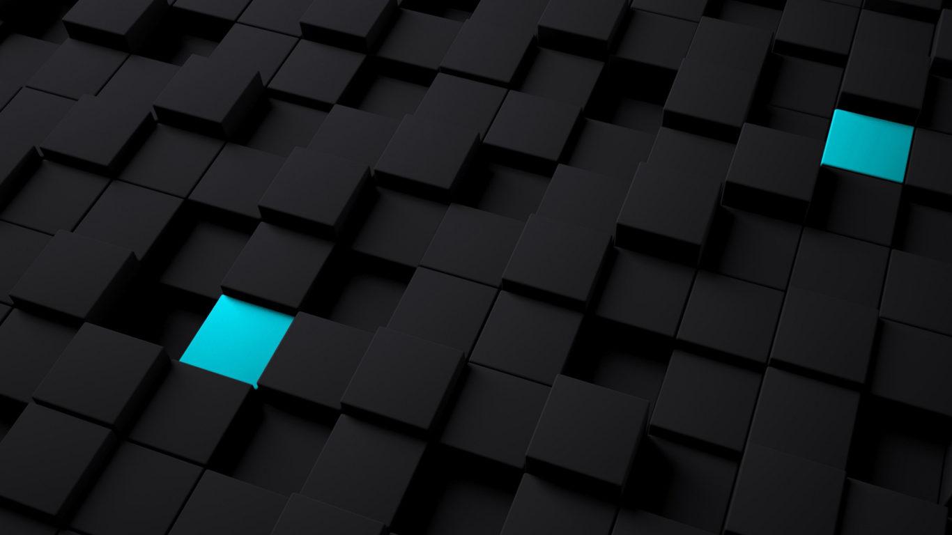 3д графика - черные и синие кубы