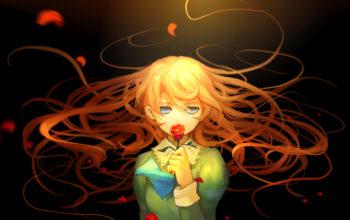 Девочка аниме с рыжими волосами