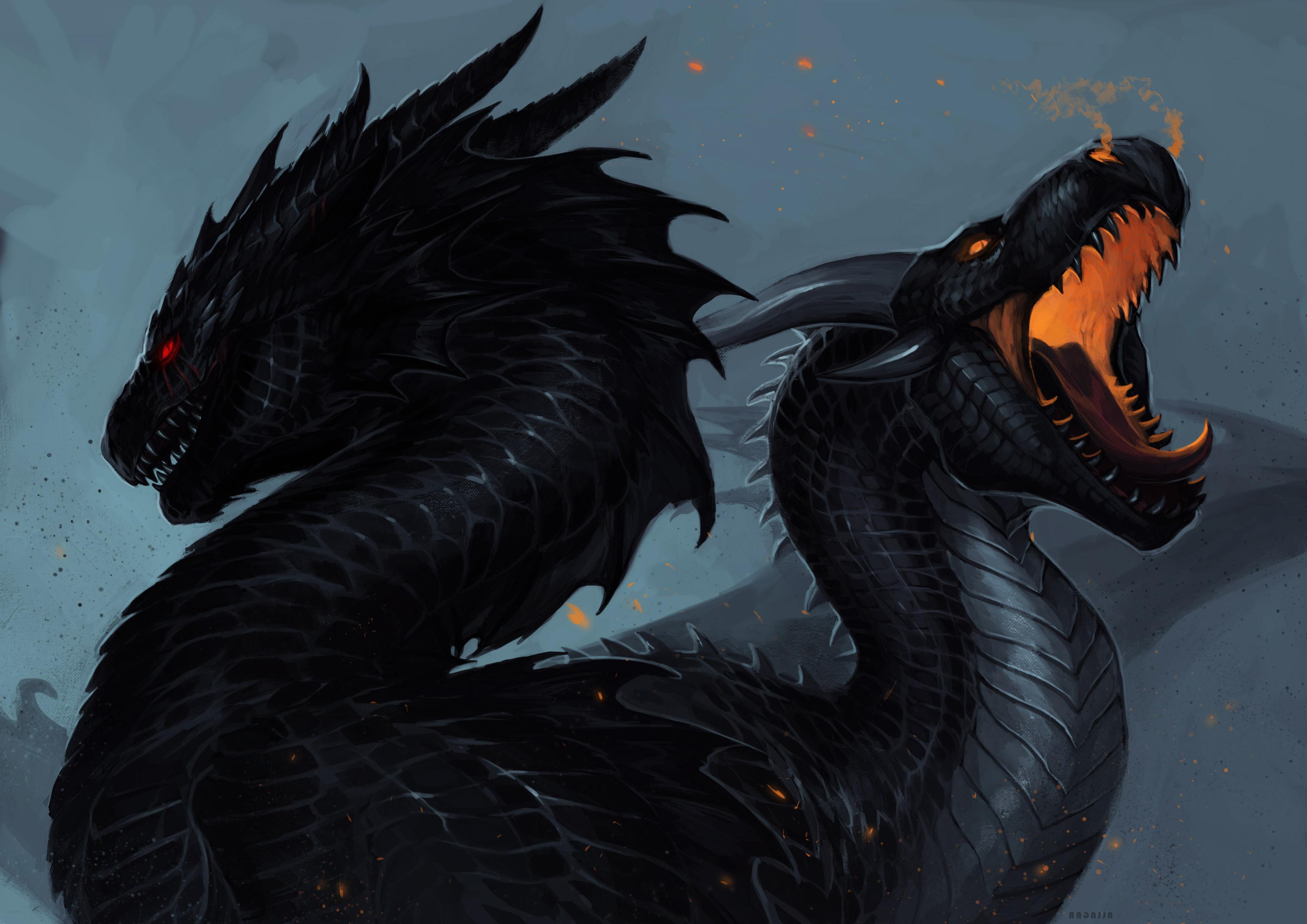 фэнтези, драконы, 4к обои
