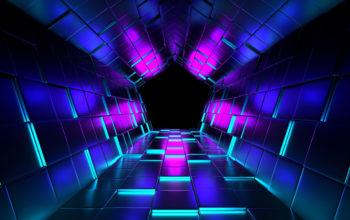 абстракция, туннель, 3d графика обои, 4k