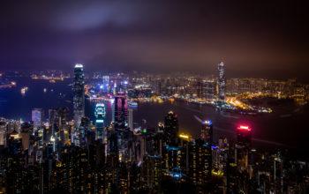 Гонконг, Китай, города, страны, ночной город, 6k обои, China, Hong Kong