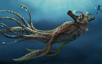 Морское чудовище из игры Subnautica 2018