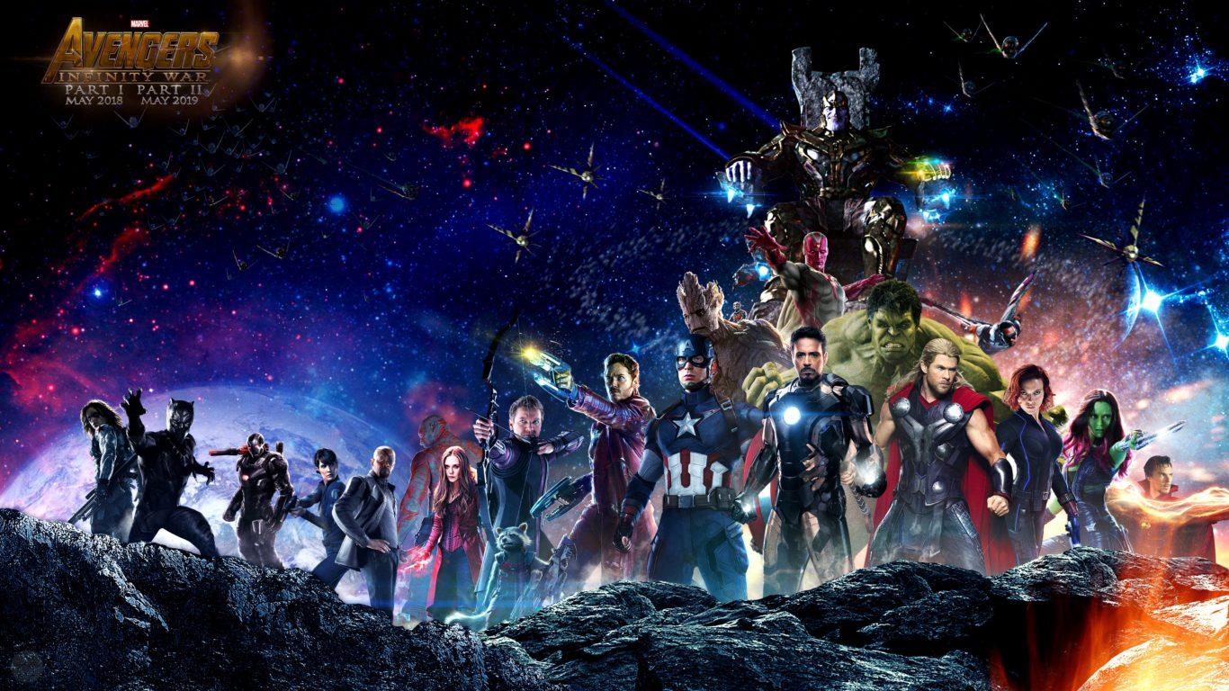 Мстители война бесконечности обои 4k, супергерои