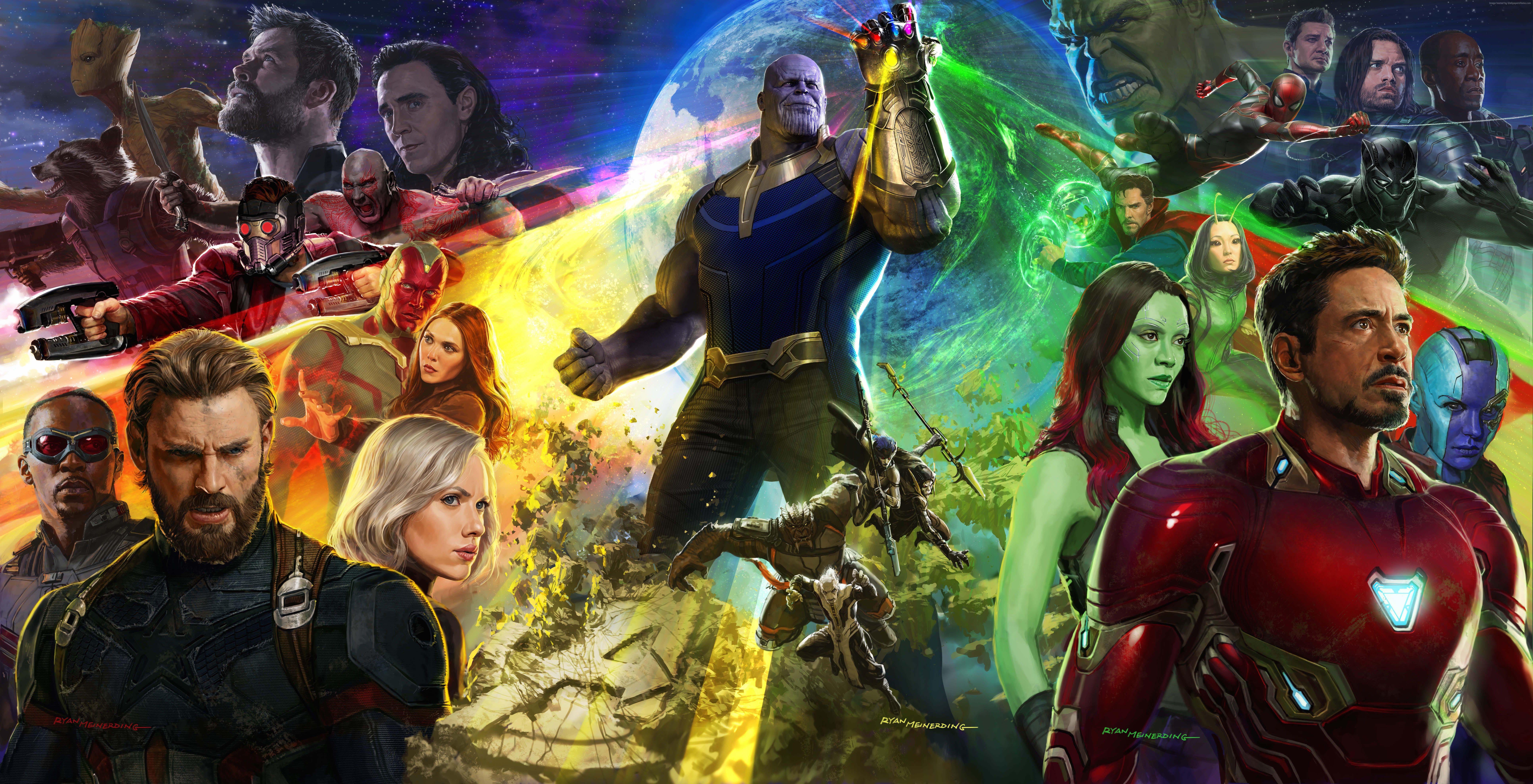 Мстители 3, Война бесконечности, Avengers Infinity War, 8k обои