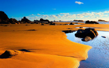 пустыня, пляж, природа, песок