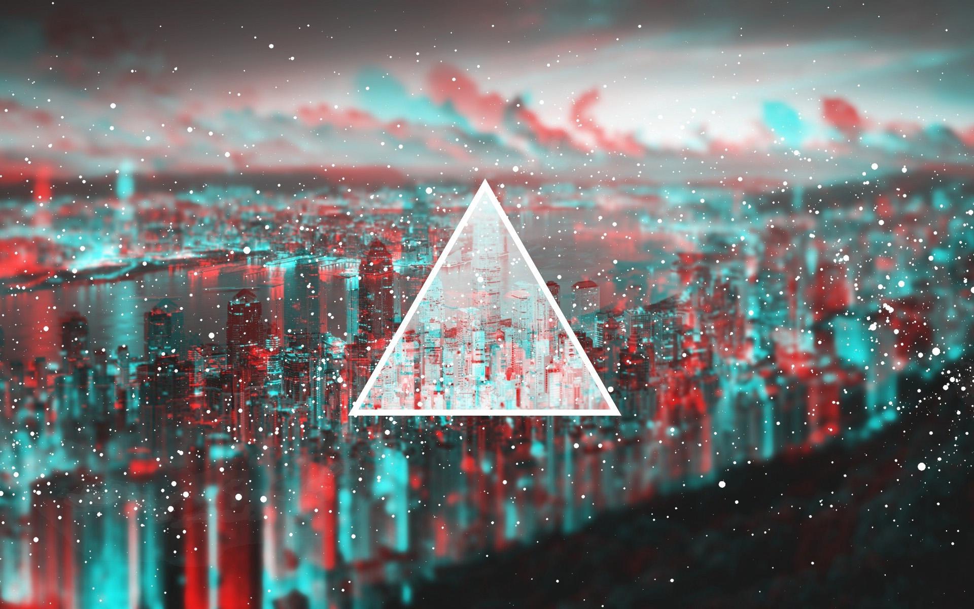 геометрия, абстракция, 3д обои, треугольник, hd