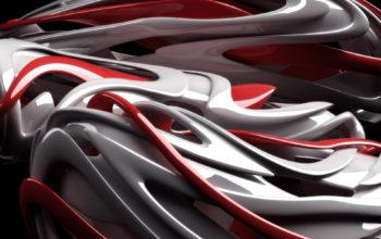 3D абстракция в темных и красных тонах