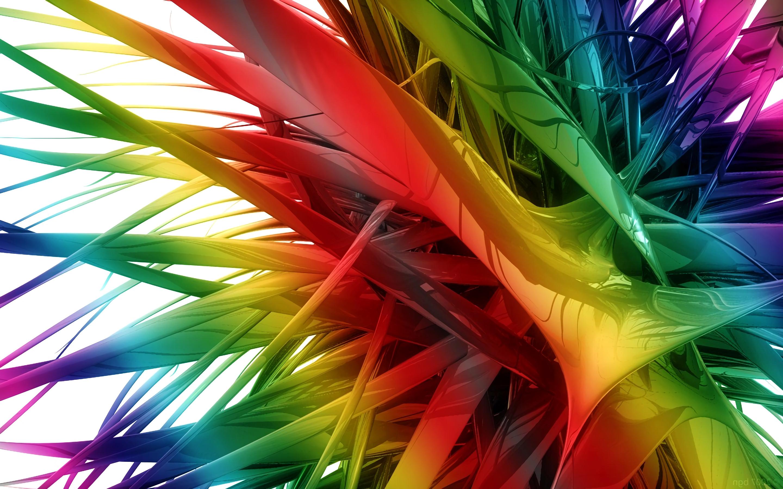 3D абстракция, радуга, разновцетная, 3D abstraction, rainbow, hd обои