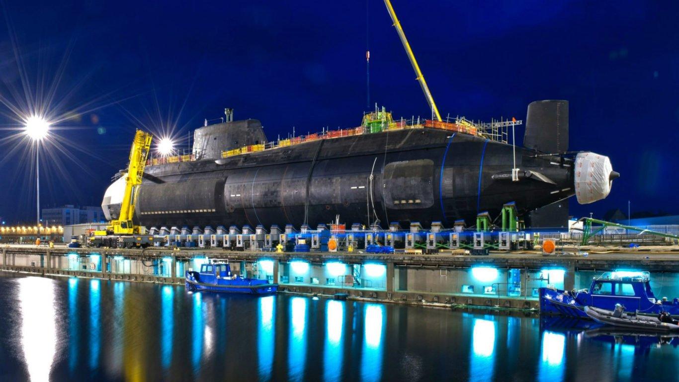 Субмарина, атомная подводная лодка, док, hd