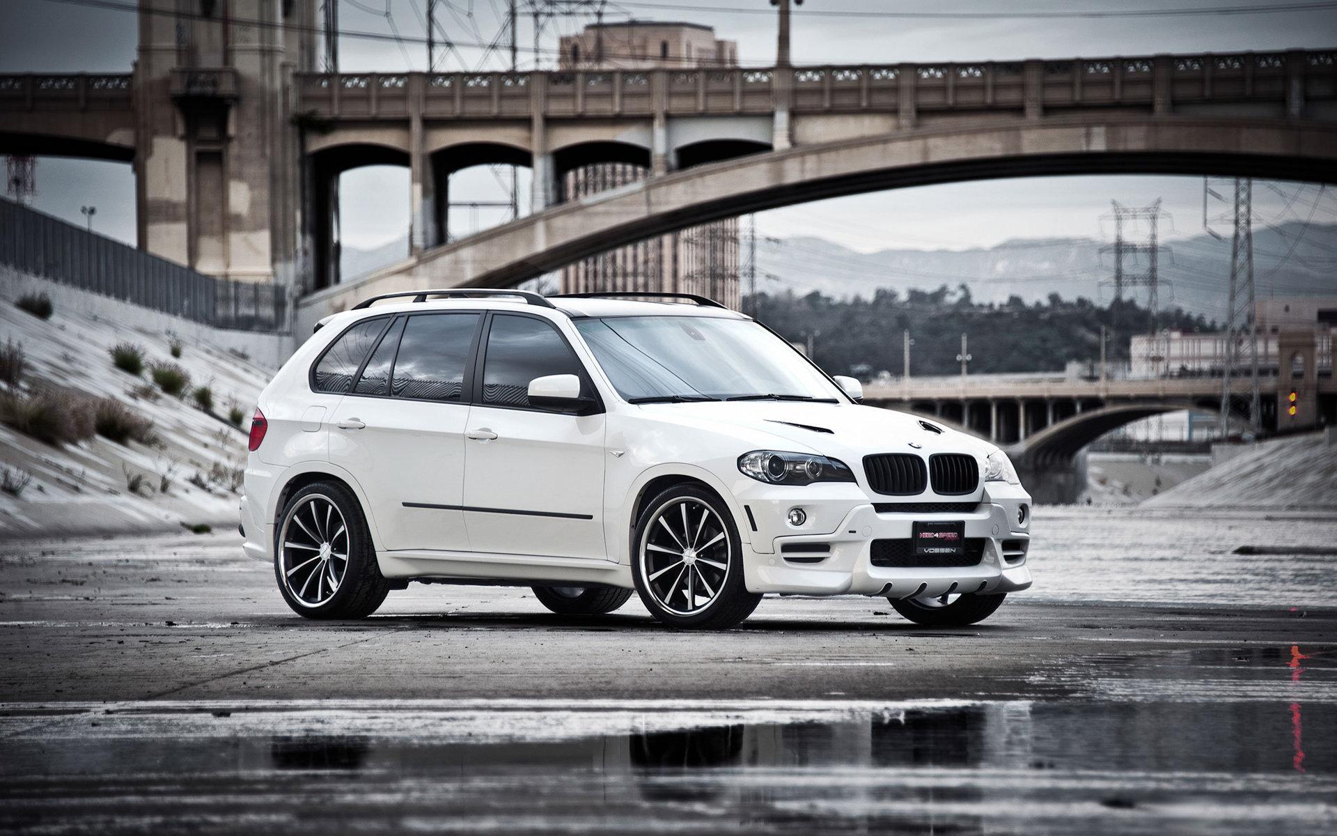 авто обои, белый BMW X5, джип, hd, бмв