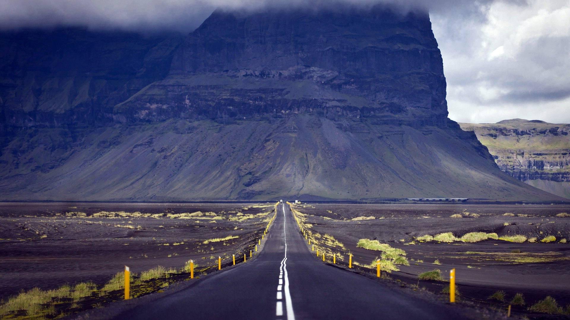 Дорога, пейзаж, природа, гора, обои hd