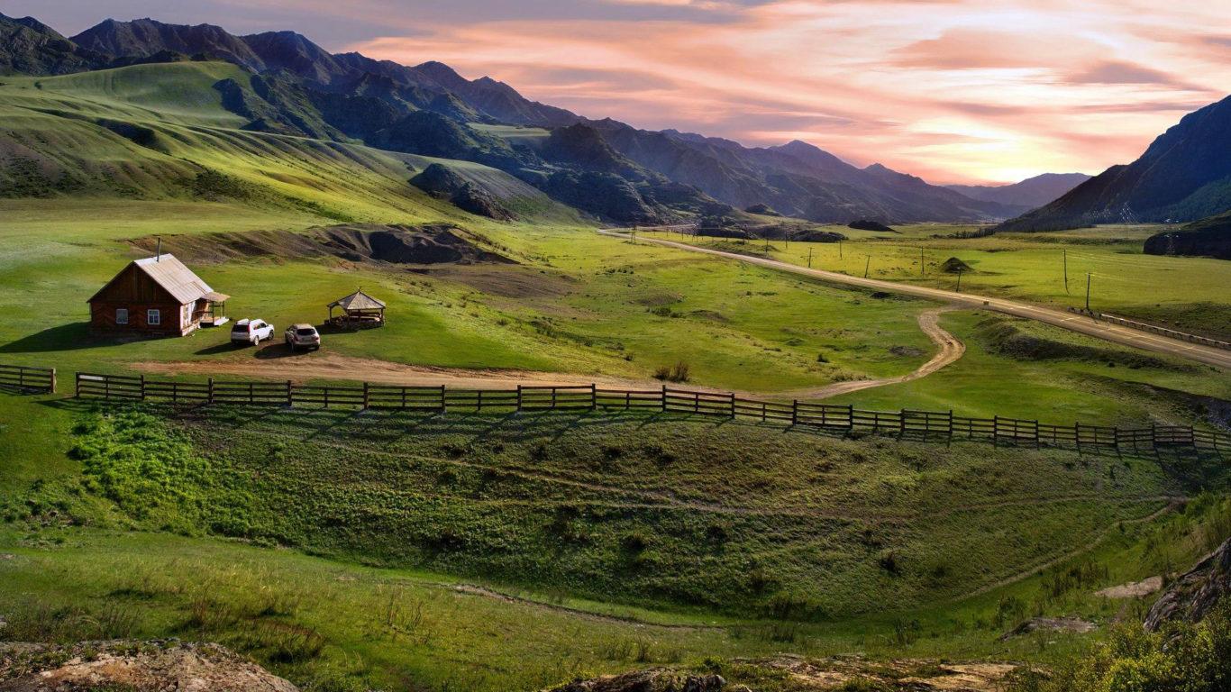 Горы обои hd - Горная долина