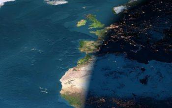 Граница между днем и ночью, космос