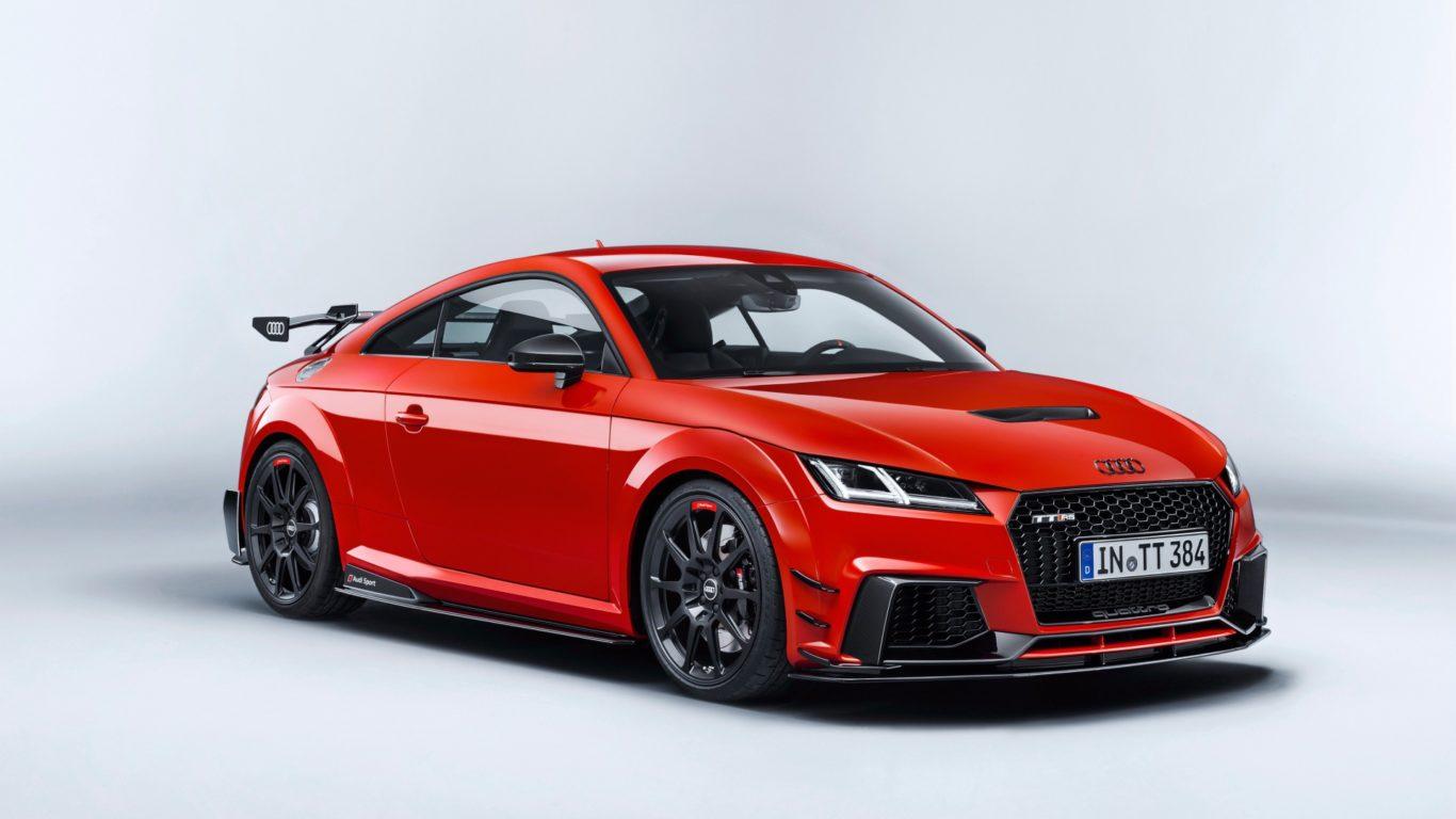 Красный автомобиль Audi TT