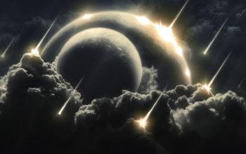 космос, метеоритный дождь, галактика, планеты, метеорит