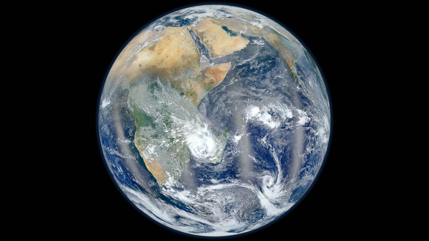 Планета Земля, космос