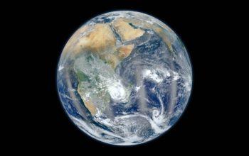 Планета Земля, космос, вид из космоса, hd обои