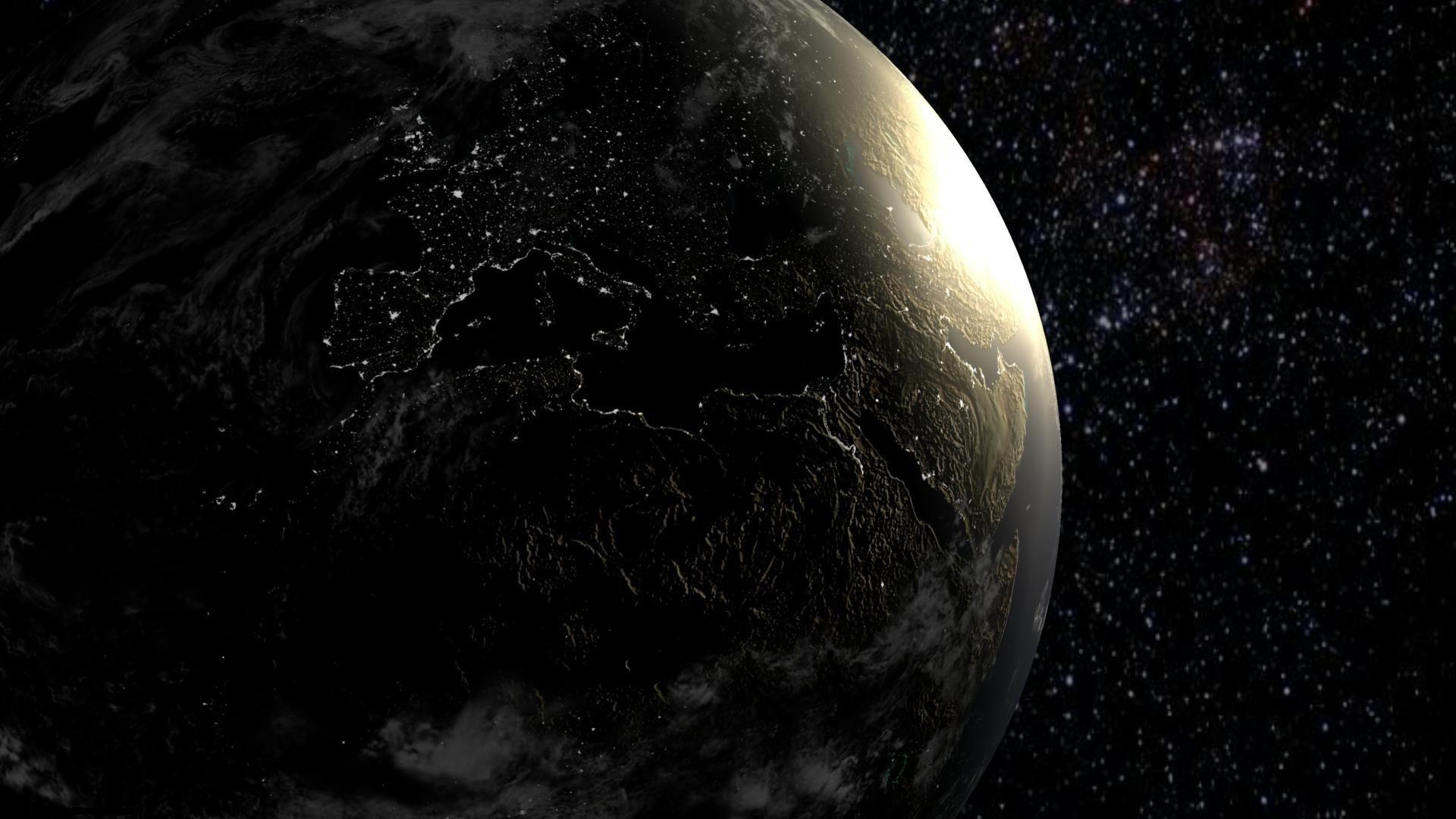 Тёмная сторона планеты Земли, космос