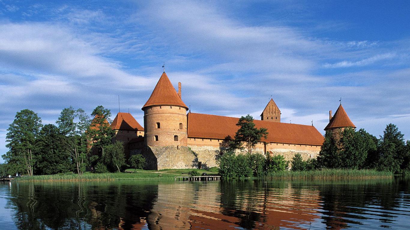 Литва, Тракай, обои страны мира, города обои