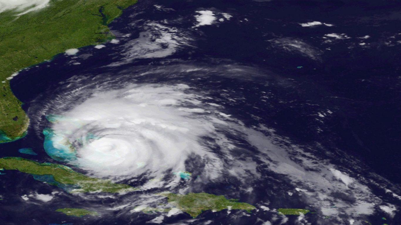 Ураган Айрин - вид из космоса