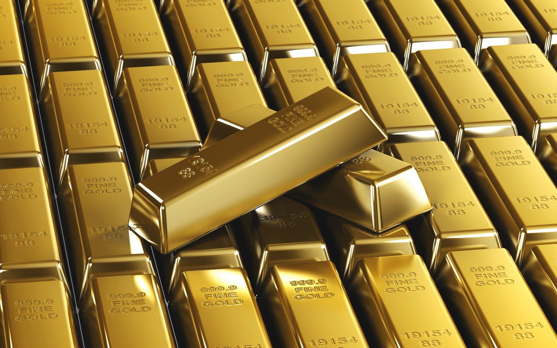 Золотые слитки, золото, gold, обои hd