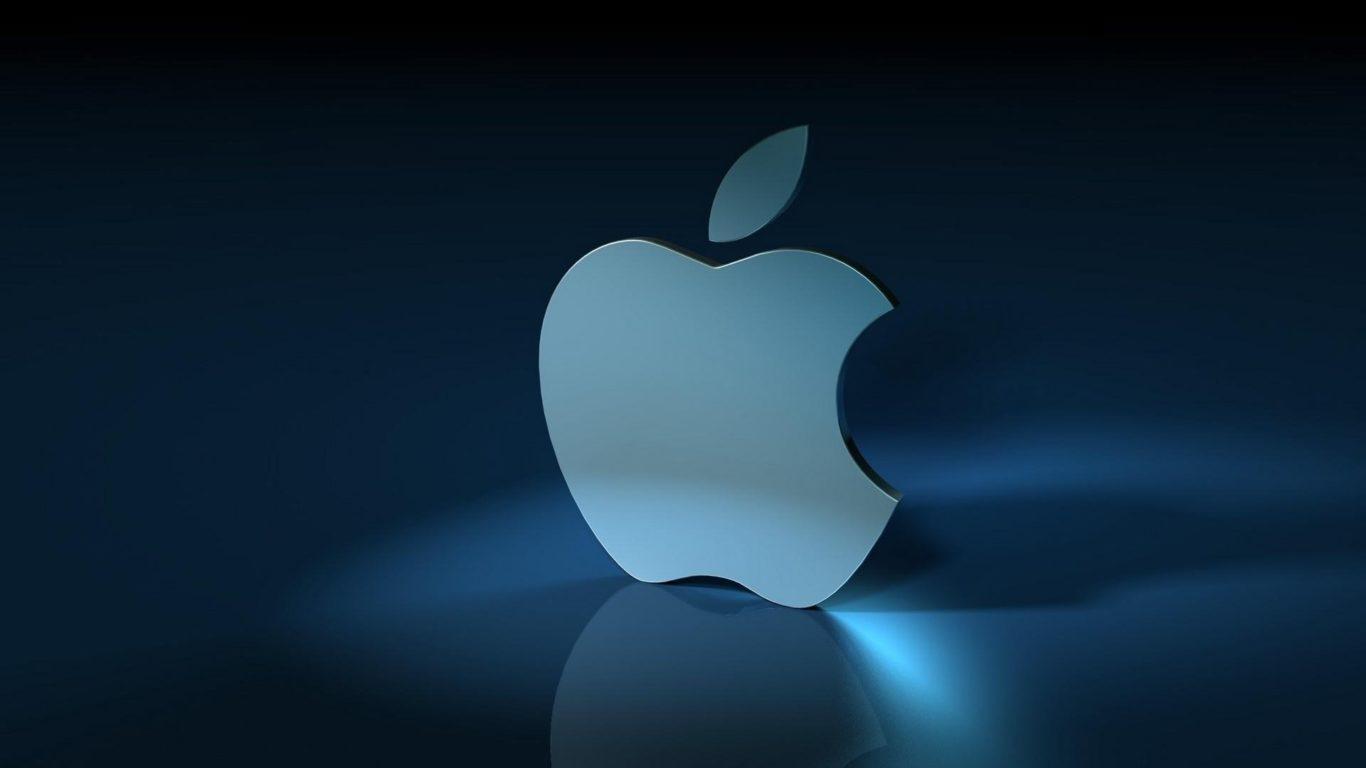 Бренды, 3d логотип Apple, яблоко