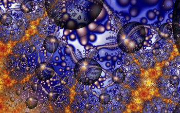 3д пузыри, 3d обои, графика