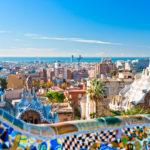 Город Барселона в Испании