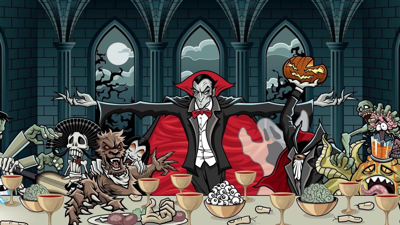 Хэллоуин - Дракула и его компания
