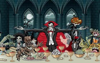 Хэллоуин, граф дракула, Halloween, hd обои