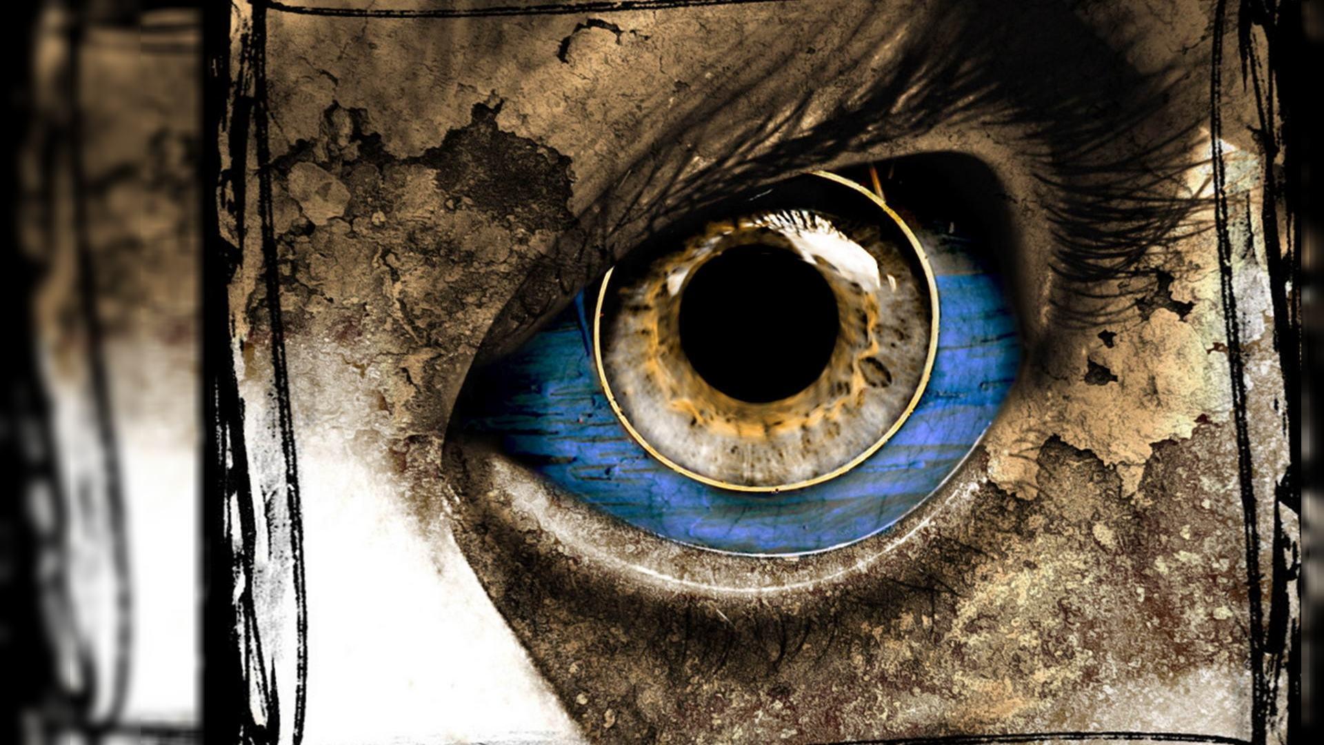 3д обои, глаз, 3d графика, око