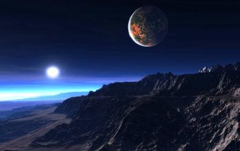 Космос, экзопланета, звезды, луна, галактика, вселенная, hd
