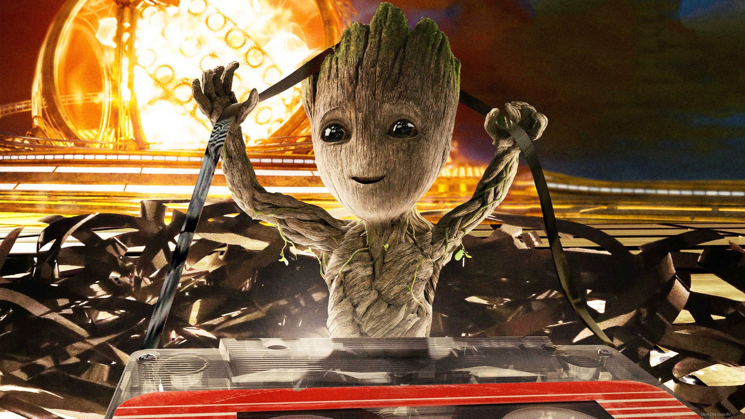 малыш Грут, Baby Groot, марвел, Стражи галактики, кассета, hd обои
