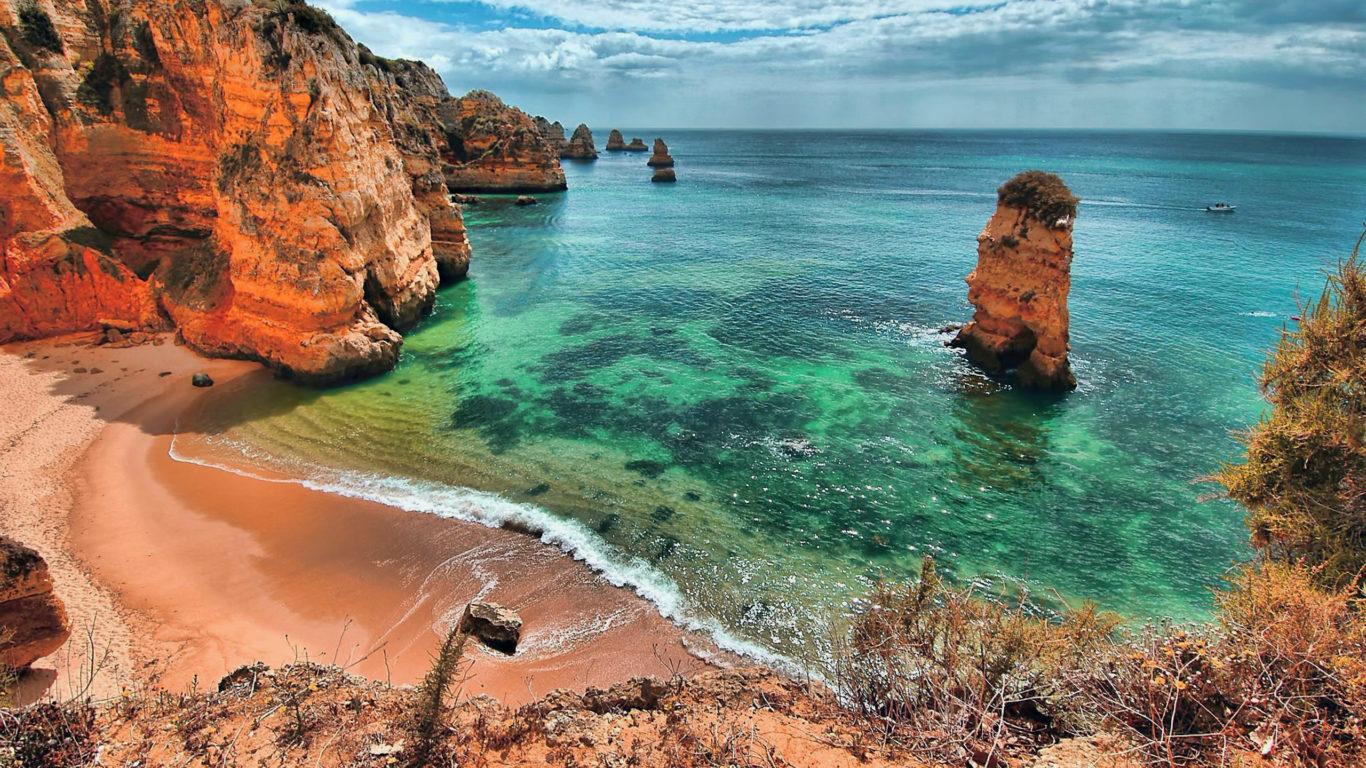 Море, берег, пляж, Португалия