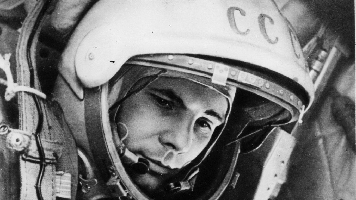 Юрий Гагарин, широкоформатные обои, космос, hd