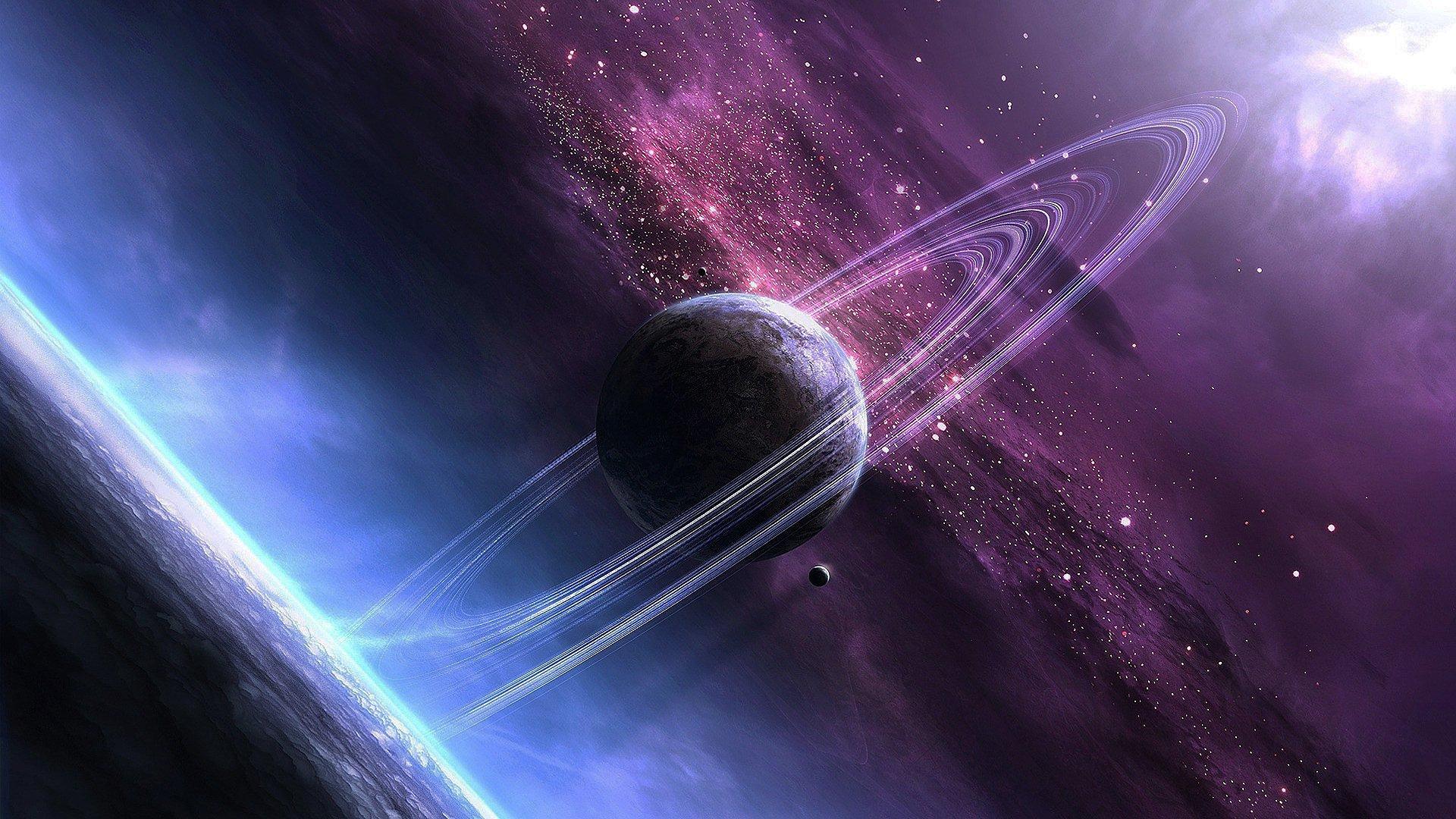 космос, планеты, звезды, галактика, full hd