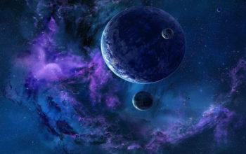 галактика, планеты, космос, вселенная, hd обои