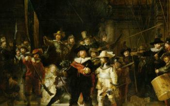 Искусство, арх, картина, Рембрант - Ночной Дозор, живопись, 4k обои