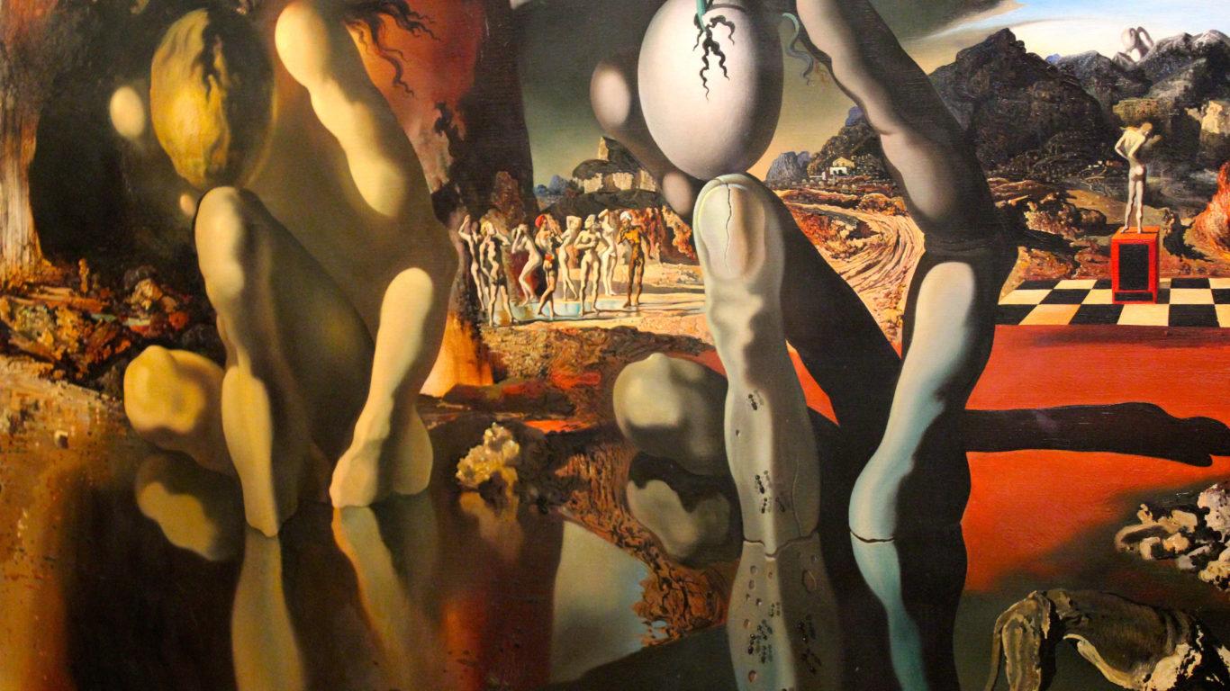 Искусство, живопись, Сальвадор Дали, Метаморфозы, арт, Art, painting, Salvador Dali, 4k обои