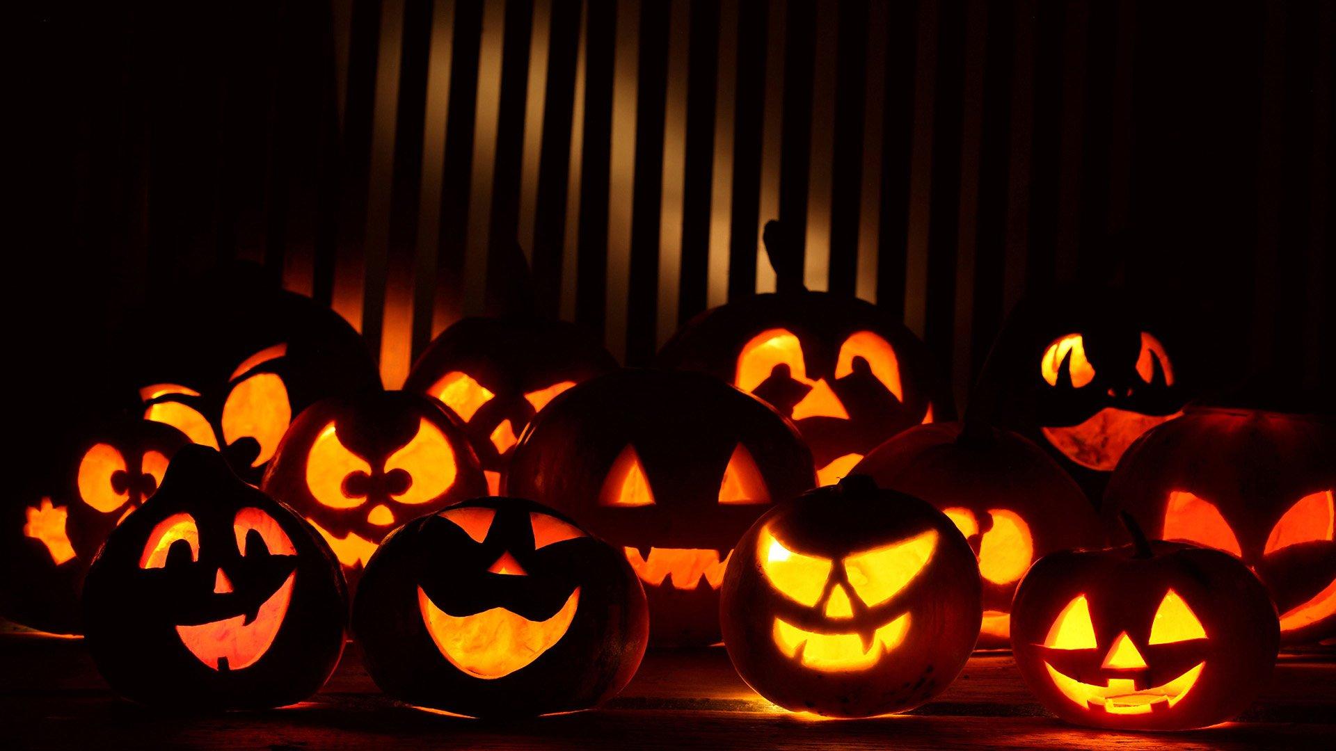 Хэллоуин, тыквы, праздники, hd обои