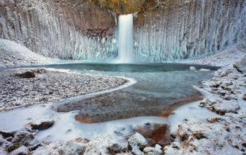 водопад, зима, природа, hd обои, waterfall, winter, nature