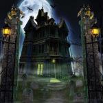 Страшный замок на Хэллоуин
