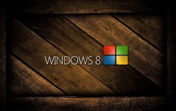windows 8, логотип, деревянный, hd