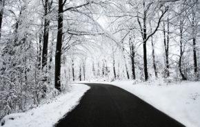 зима, лес, дорога, снег, зимний пейзаж, hd обои