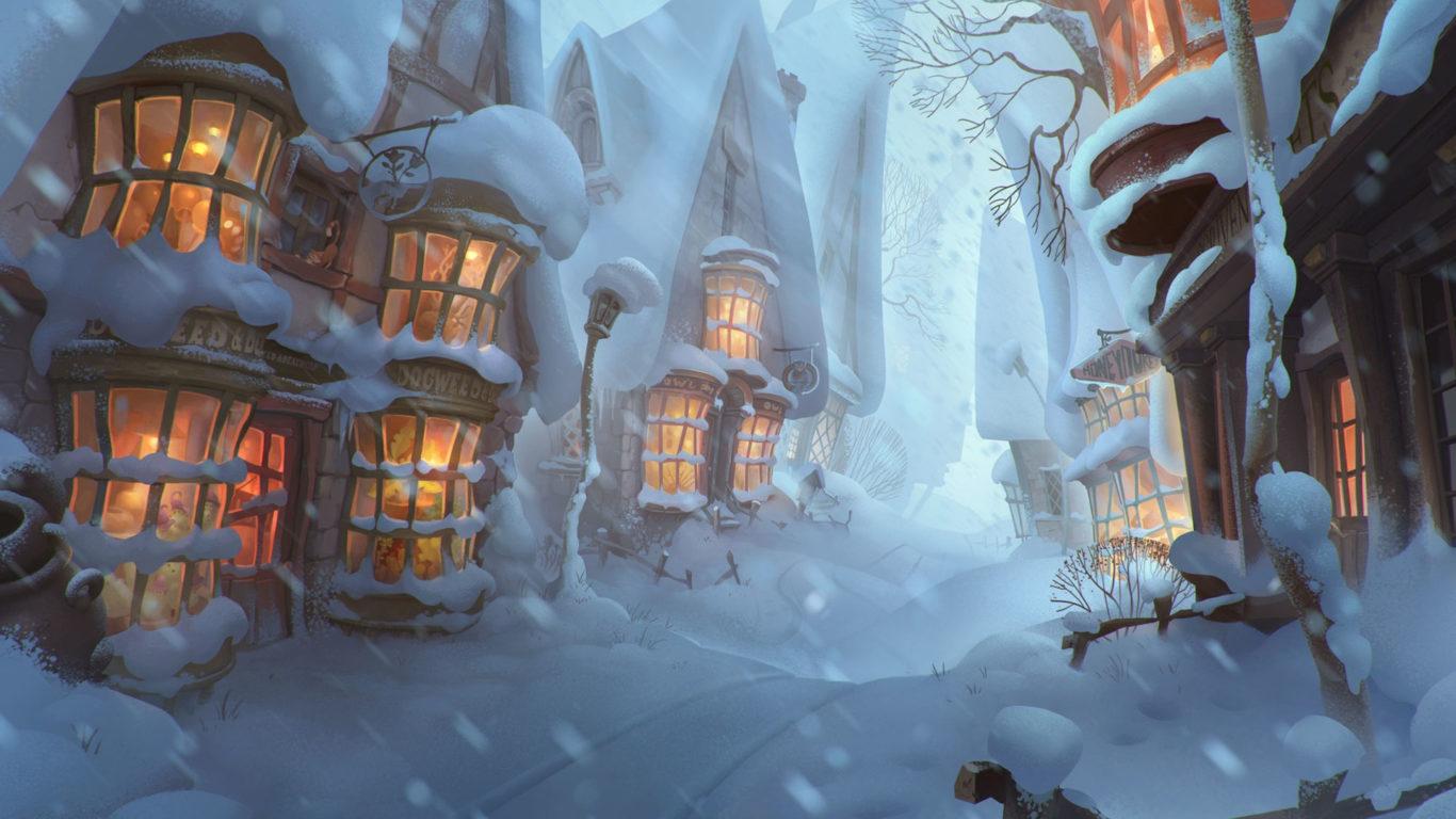 Новый год, арт обои, зима, снег, настроение, hd New Year