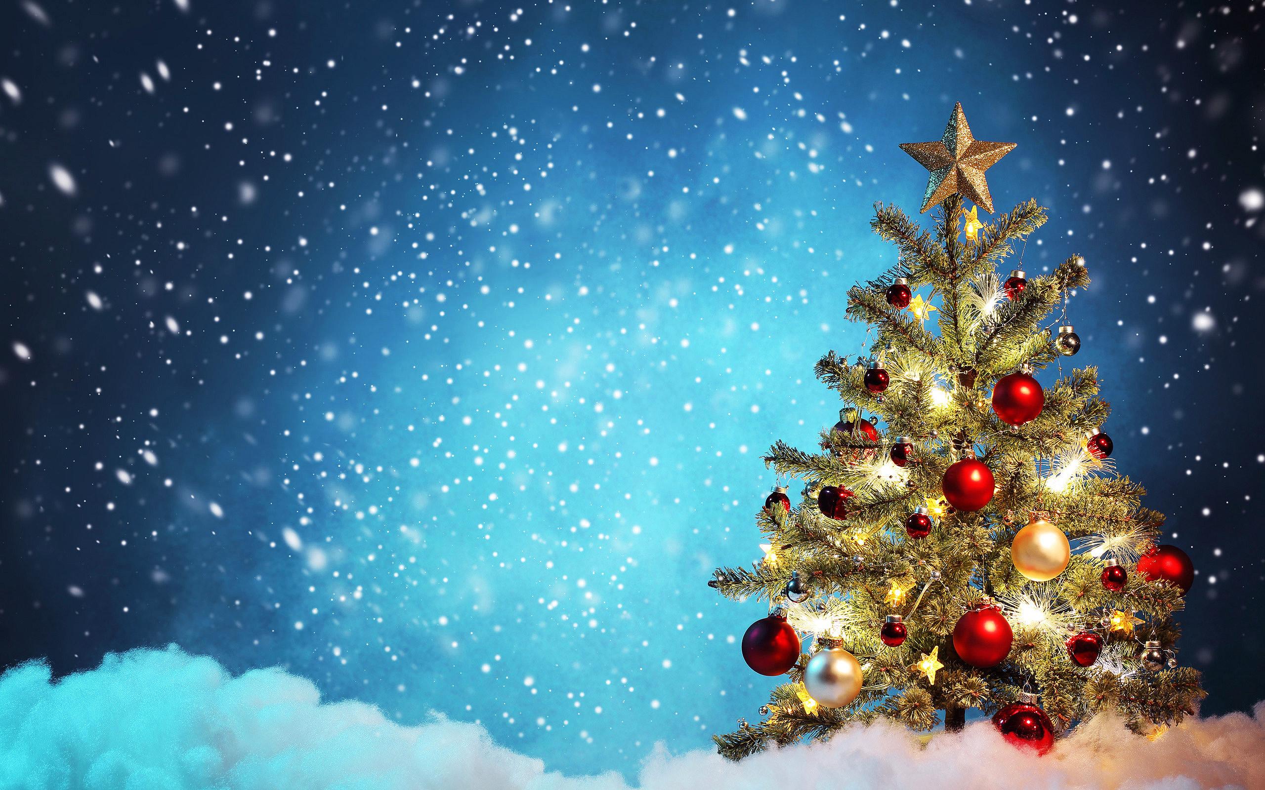 Новый год 2019, новогодняя елка, игрушки, hd заставки