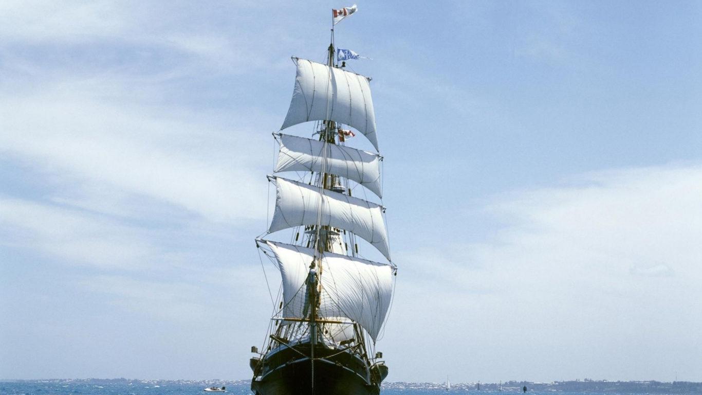 корабли парусники, море, hd