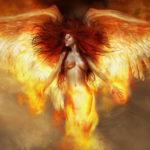 Огненный ангел женщина 3д