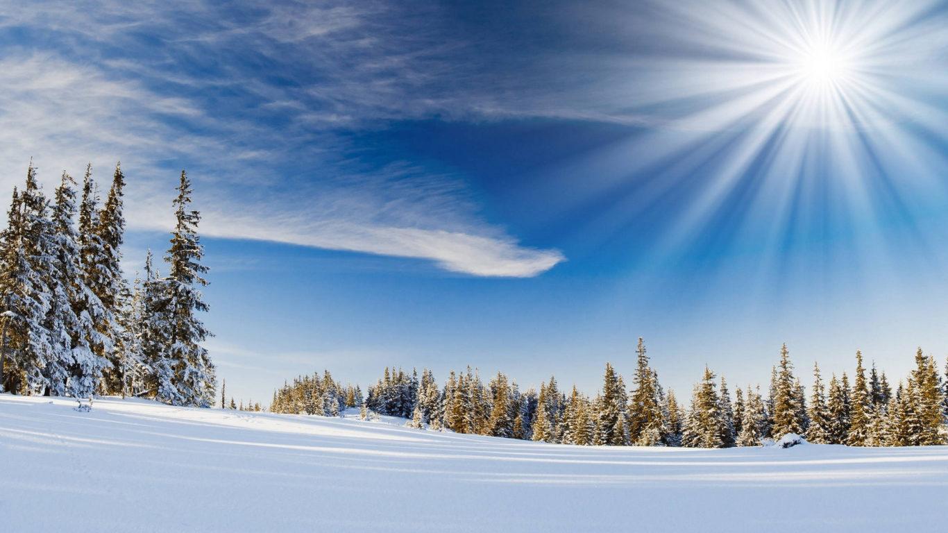 зима, снег, природа зимы, солнце, hd winter, snow