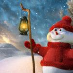 Снеговик в красной кофте